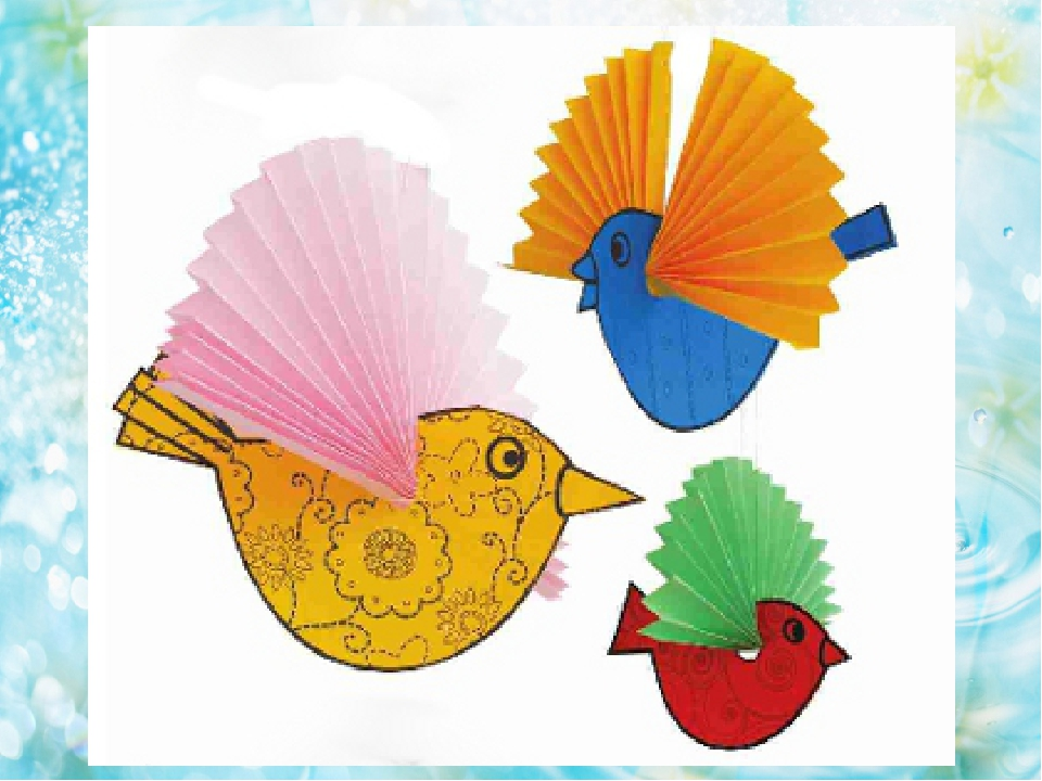 Птица из листа бумаги