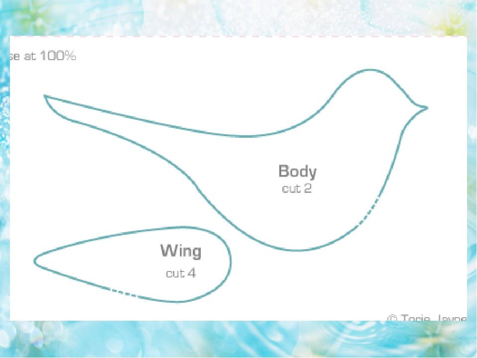 оригинальные птицы из ткани выкройки