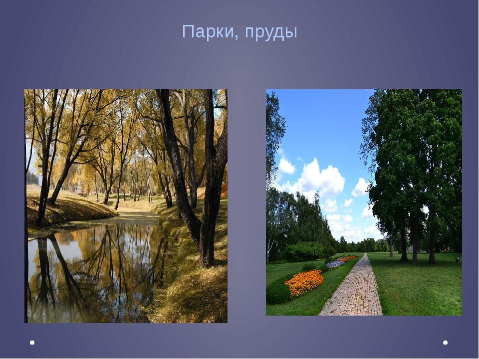 Парки, пруды