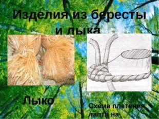 Изделия из бересты и лыка Лыко Схема плетения лаптя на колодке
