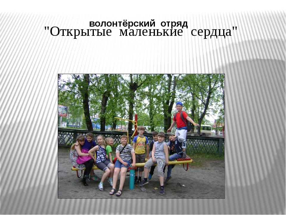 """""""Открытые маленькие сердца"""" волонтёрский отряд"""