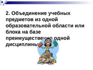 2. Объединение учебных предметов из одной образовательной области или блока н