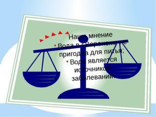 Наше мнение Вода в г.Воронеже не пригодна для питья; Вода является источником