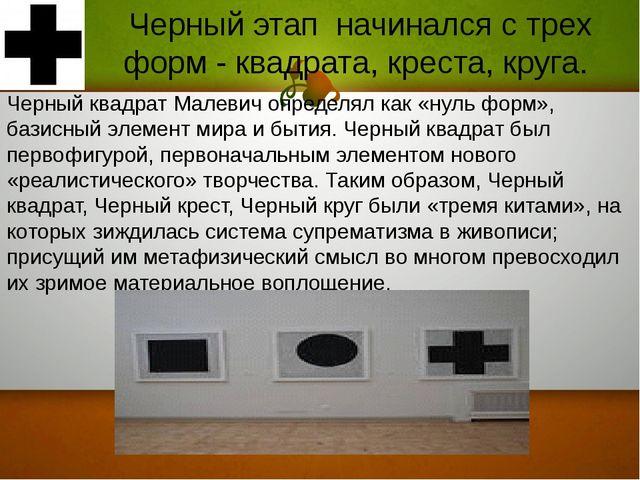 Черный квадрат Малевич определял как «нуль форм», базисный элемент мира и быт...