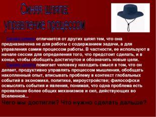 Синяя шляпа отличается от других шляп тем, что она предназначена не для рабо