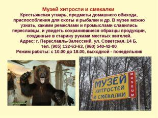 Музей хитрости и смекалки Крестьянская утварь, предметы домашнего обихода, пр