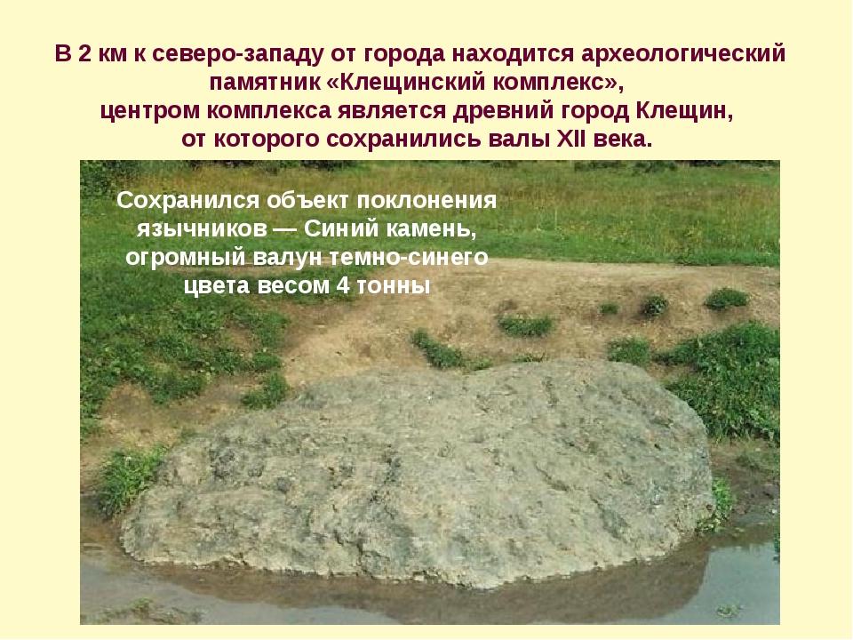 В 2 км к северо-западу от города находится археологический памятник «Клещинск...