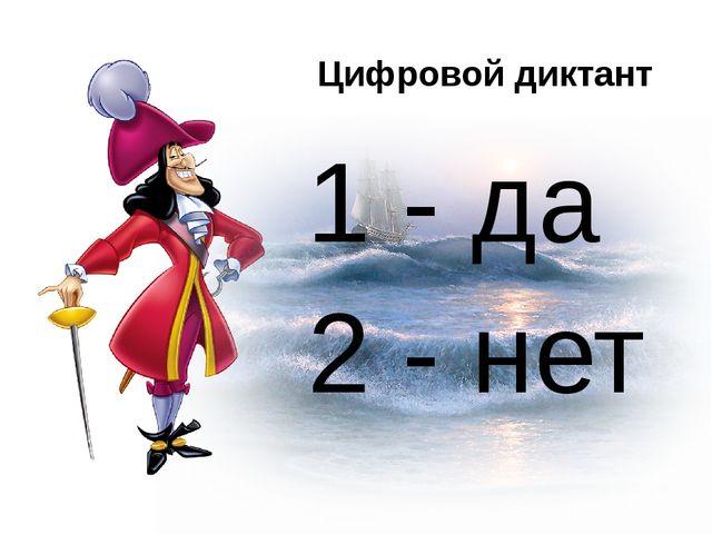 1 - да 2 - нет Цифровой диктант
