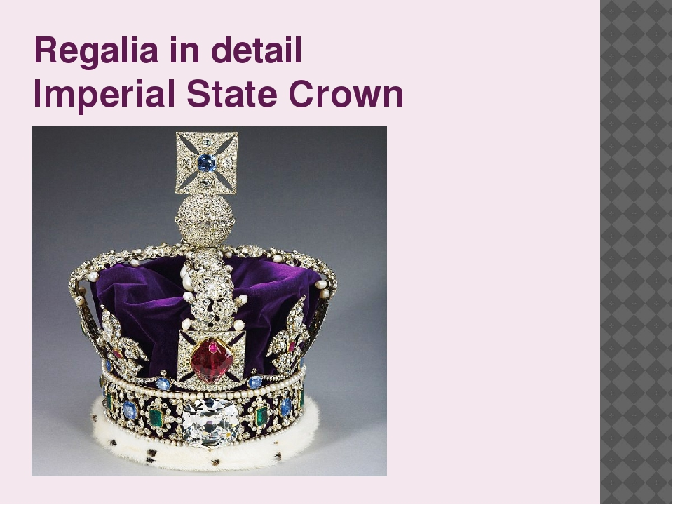 Regalia in detail Imperial State Crown