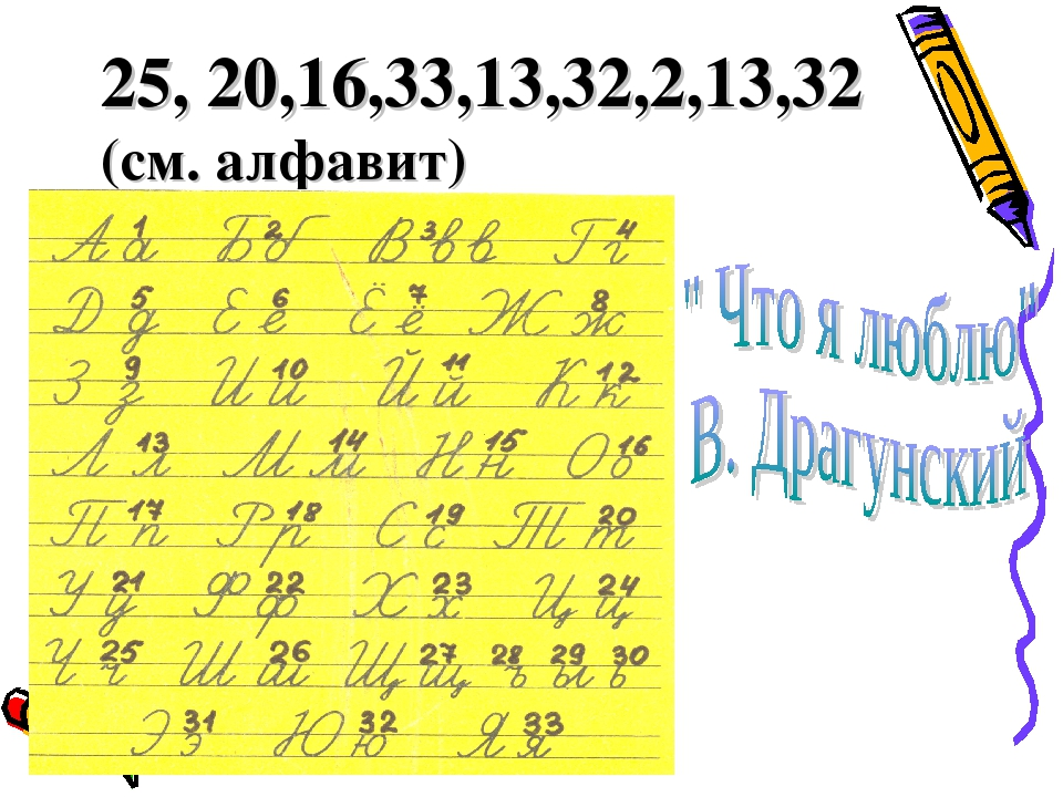 25, 20,16,33,13,32,2,13,32 (см. алфавит)
