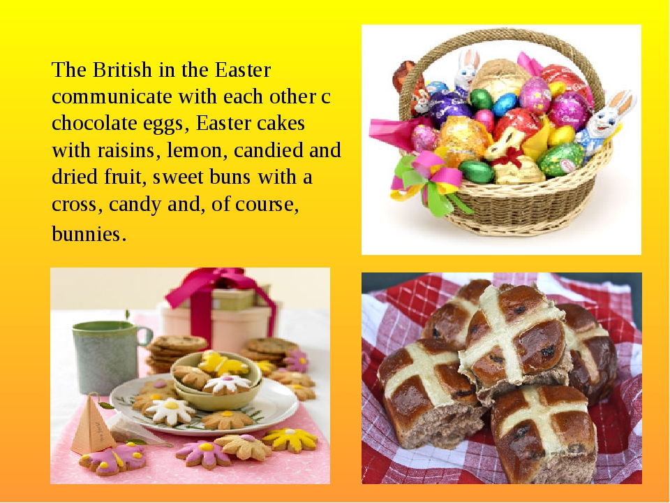 The British in the Easter communicate with each other c chocolate eggs, Easte...