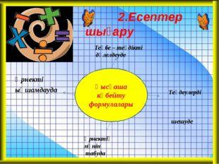 Қысқаша көбейту формулалары 2.Есептер шығару Өрнекті ықшамдауда Теңдеулерді ш