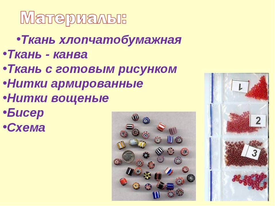 Ткань хлопчатобумажная Ткань - канва Ткань с готовым рисунком Нитки армирован...