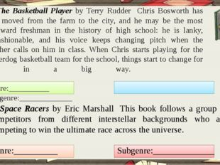 2. The Basketball Player by Terry Rudder Chris Bosworth has just moved from