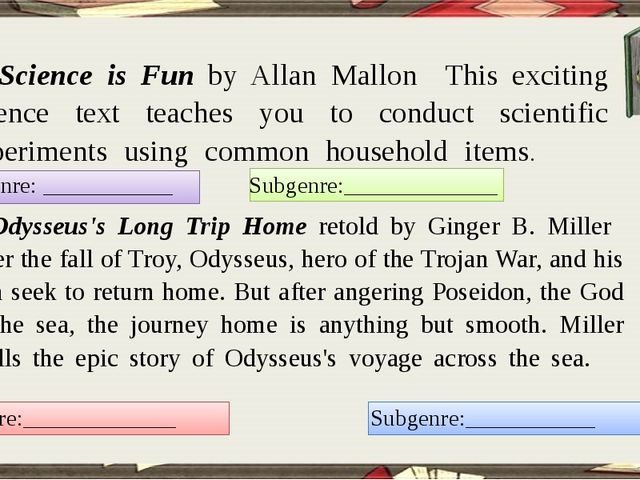 8. Science is Fun by Allan Mallon This exciting science text teaches you to...