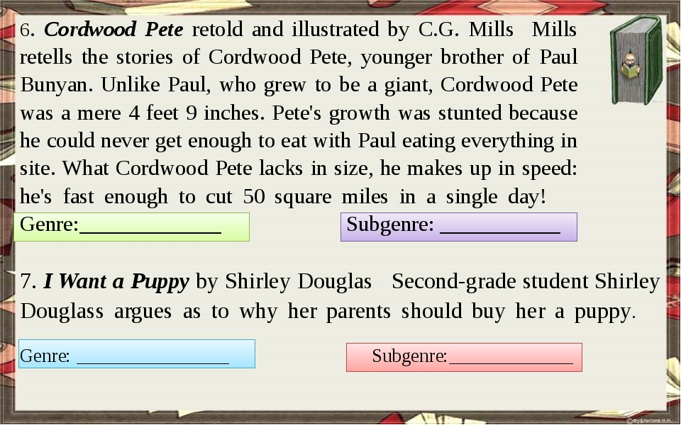 6. Cordwood Pete retold and illustrated by C.G. Mills Mills retells the stor...