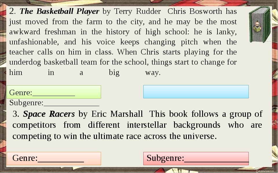 2. The Basketball Player by Terry Rudder Chris Bosworth has just moved from...