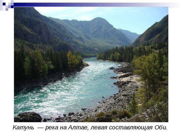 Катунь— река наАлтае, левая составляющаяОби.