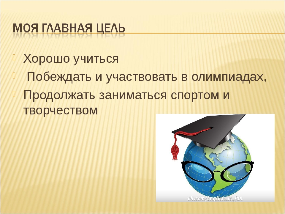 Хорошо учиться Побеждать и участвовать в олимпиадах, Продолжать заниматься сп...