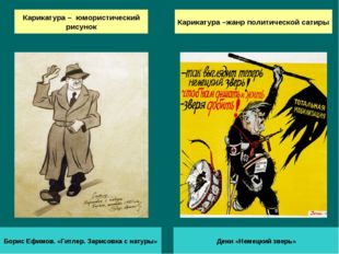 Карикатура – юмористический рисунок Дени «Немецкий зверь» Борис Ефимов. «Гитл