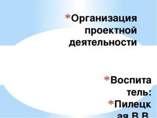 Воспитатель: Пилецкая В.В. Организация проектной деятельности