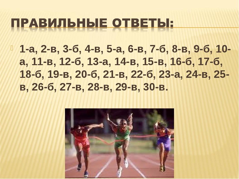 1-а, 2-в, 3-б, 4-в, 5-а, 6-в, 7-б, 8-в, 9-б, 10-а, 11-в, 12-б, 13-а, 14-в, 15...