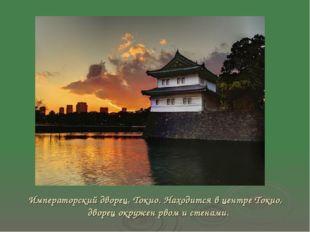 Императорский дворец, Токио. Находится в центре Токио, дворец окружен рвом и