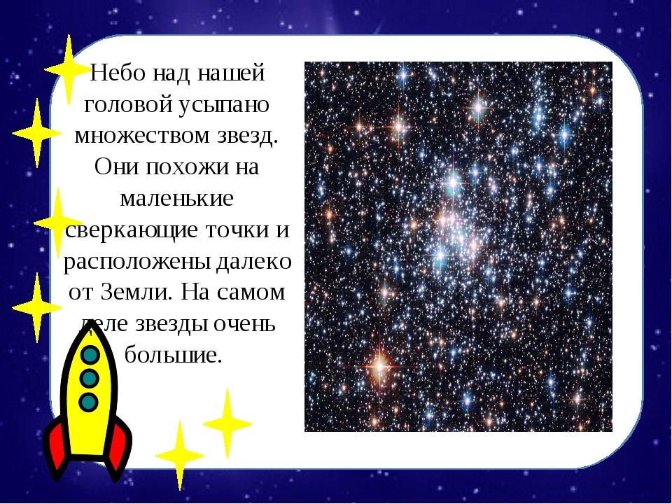 Небо над нашей головой усыпано множеством звезд. Они похожи на маленькие свер...