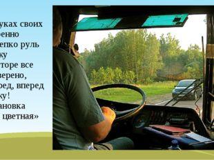 -В руках своих уверенно я крепко руль держу в моторе все проверено, Вперед, в