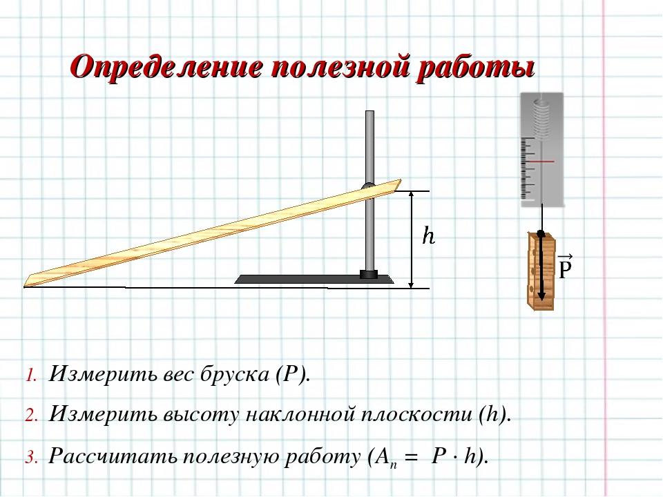 Презентация по физике определение коэффициента полезного действия наклонной плоскости