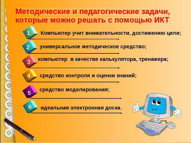 4 1 2 3 5 Компьютер учит внимательности, достижению цели; универсальное метод...