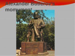 Alexander Butlerov's momument