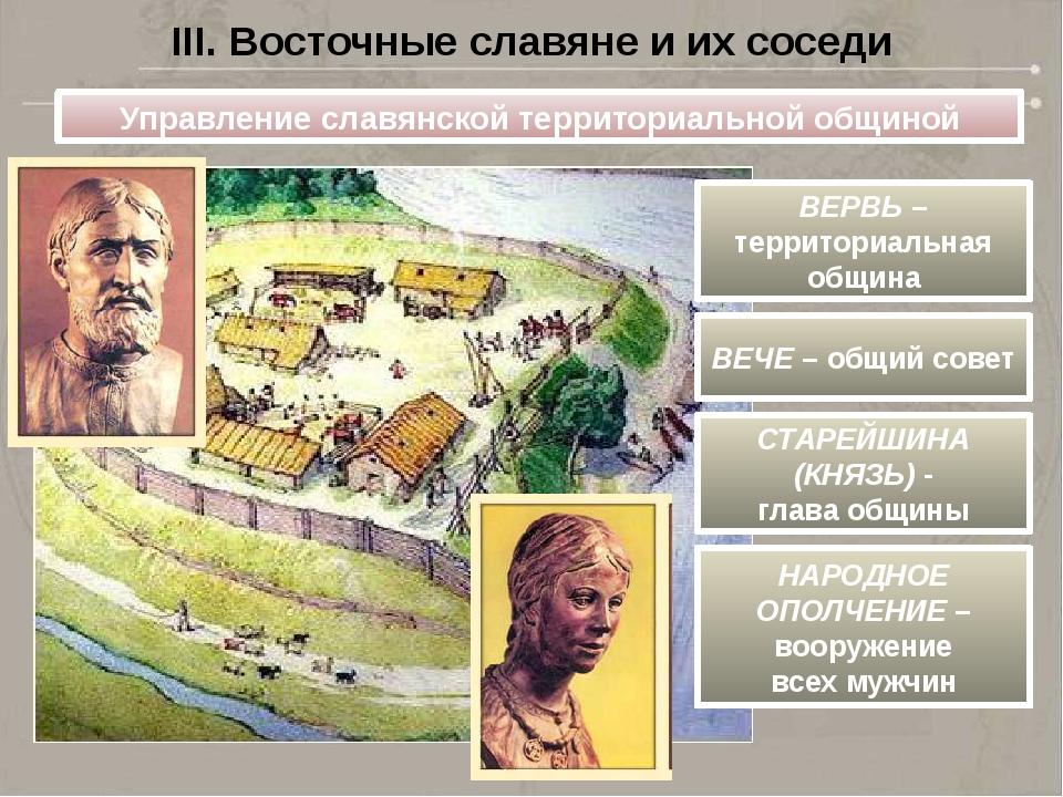 Управление славянской территориальной общиной ВЕРВЬ – территориальная община...