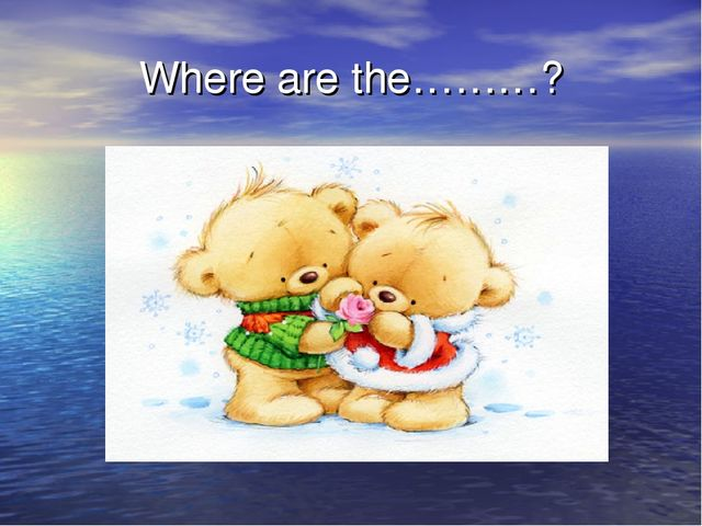 Where are the………?