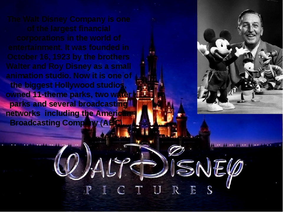 The Walt Disney Company is one of the largest financial corporations in the w...