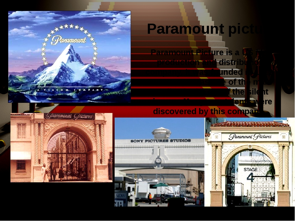 Paramount Picture is a US film production and distribution company. It was fo...