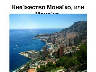 Кня́жество Мона́ко, или Мона́ко карликовое государство