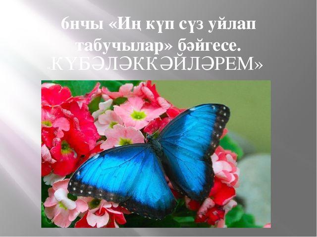 6нчы «Иң күп сүз уйлап табучылар» бәйгесе. «КҮБӘЛӘККӘЙЛӘРЕМ»