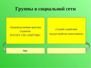 Группы в социальной сети «Производственная практика студентов КОГОБУ СПО «КМТ
