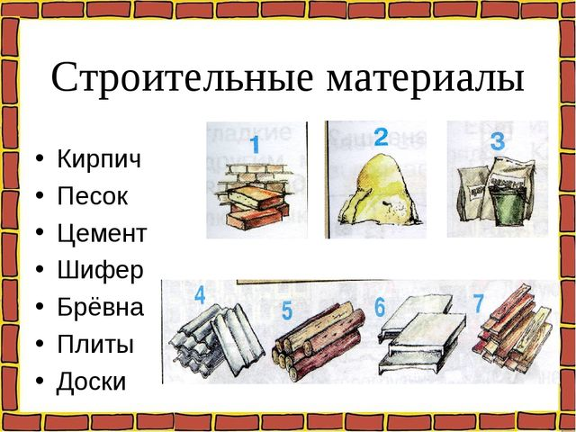 Строительные материалы Кирпич Песок Цемент Шифер Брёвна Плиты Доски