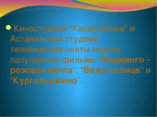 """Киностудией """"Казахфильм"""" и Астанинской студией телевидения сняты научно-попул"""