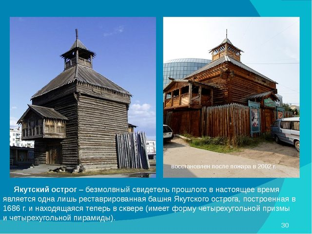 Якутский острог – безмолвный свидетель прошлого в настоящее время является о...