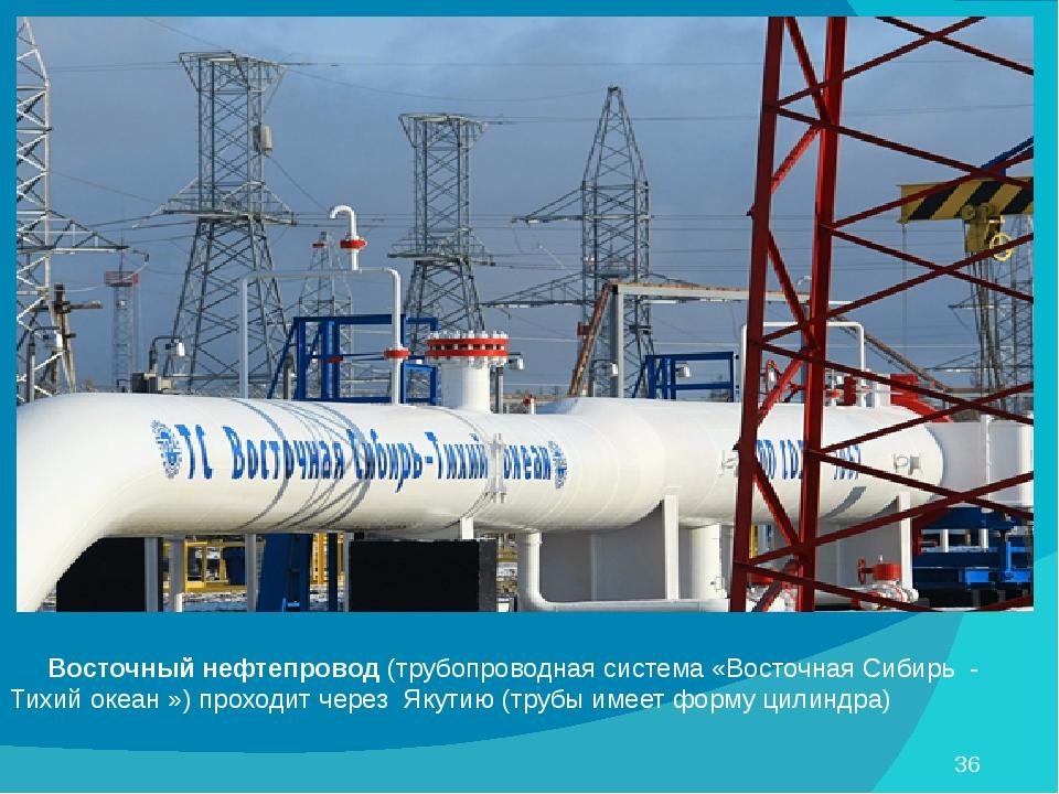 Восточный нефтепровод (трубопроводная система «Восточная Сибирь - Тихий океа...
