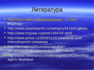 Литература http://oboi.fatal.ru/bears/wallpaper_14.html-медведь http://www.pl
