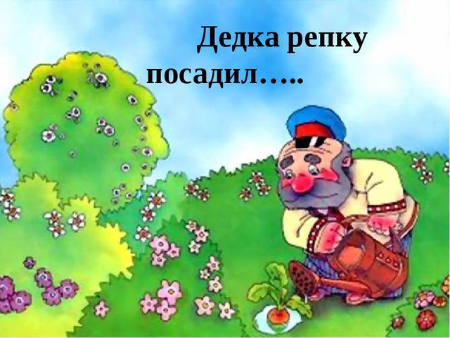 Дедка репку посадил…..