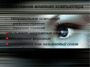 Неправильное освещение диффузное отражения Зеркальное отражений вызывает напр