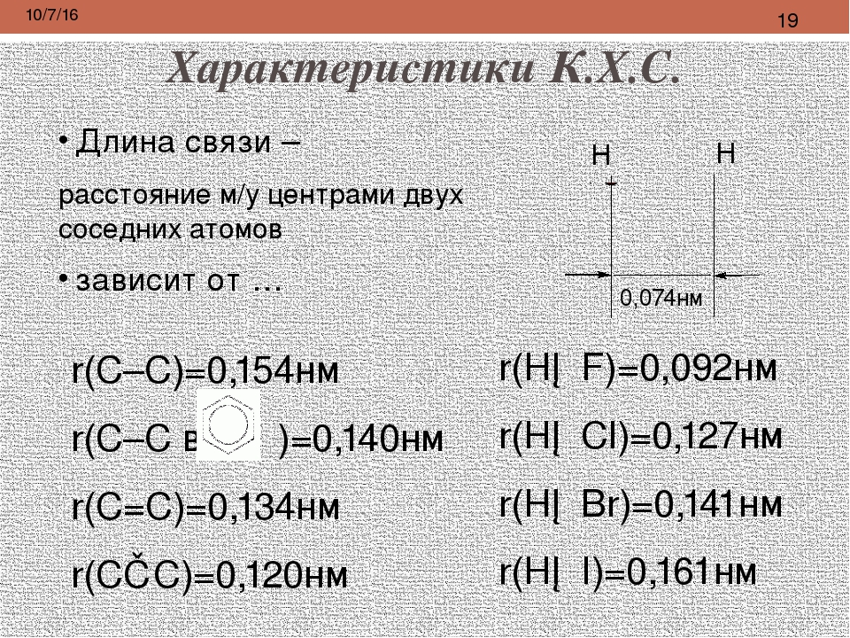 Характеристики К.Х.С. Следует различать понятия: полярность связи и полярност...