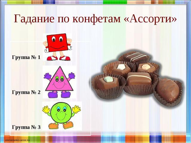 Гадание по конфетам «Ассорти» Группа № 1 Группа № 2 Группа № 3