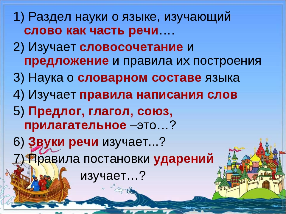 1) Раздел науки о языке, изучающий слово как часть речи…. 2) Изучает словосоч...