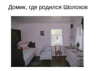Домик, где родился Шолохов